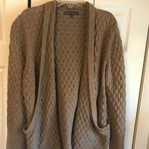 XL Beige Cardigan w/Pockets